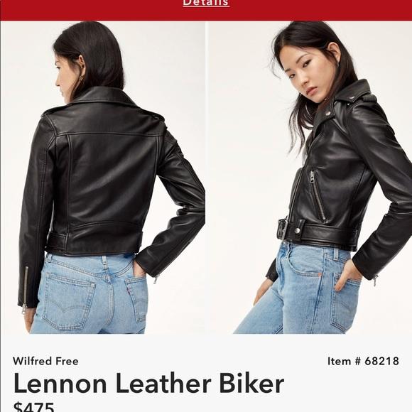 394ba77b5 Aritzia Wilfred Free Leather Jacket